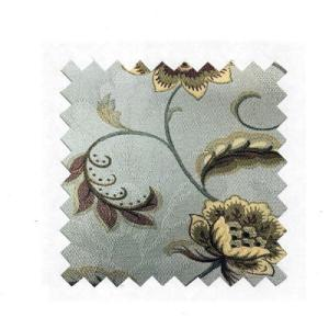 Blue Jacquard Floral Silk