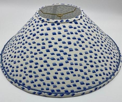 Custom Cone Lampshade Fabric and Trim