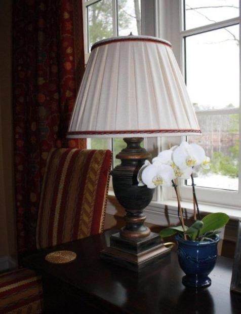 Custom Hand Sewn Box Space Pleat Lampshade
