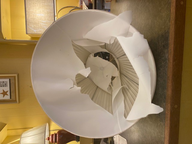 Frederick Cooper Lampshade Repair Before Picture