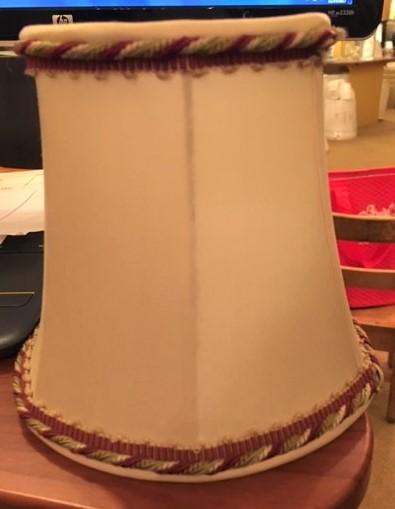 Silk Modified Drum Lampshade with Custom Trim