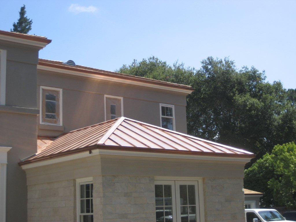 Copper standing seam roof concord sheet metal copper for Standing seam copper