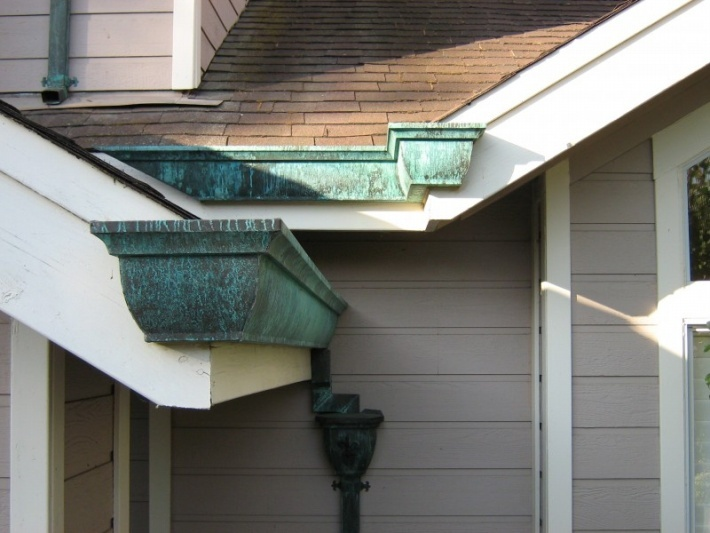 Image result for copper-gutter