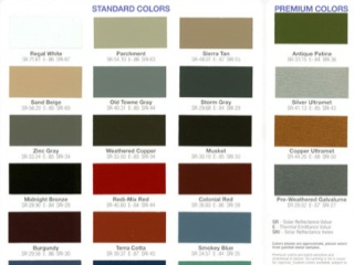 Kynar Colors For Gutters Flashings Roof Panels And More