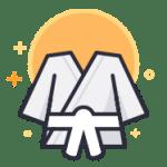 White Belt martial arts uniform icon