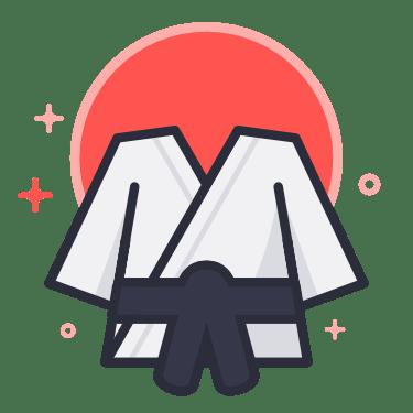 Black Belt Uniform Martial Arts Blog Logo