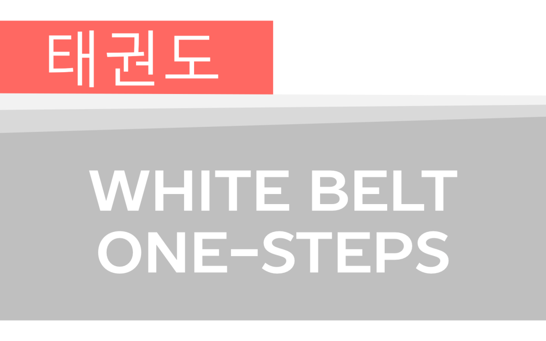How To: Taekwondo America White Belt One-Steps