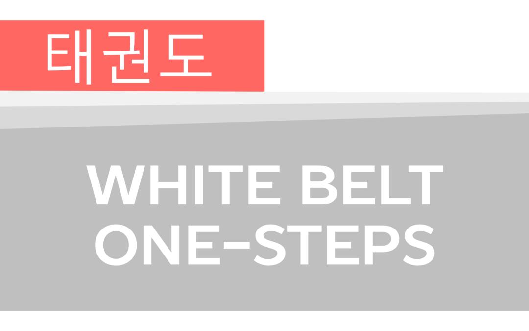 How To: Taekwondo America White Belt One-Steps