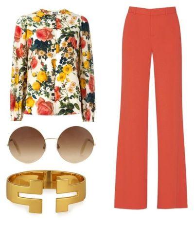 Come abbinare il colore corallo - i pantaloni