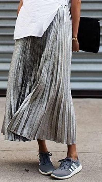 come indossare la gonna plisse