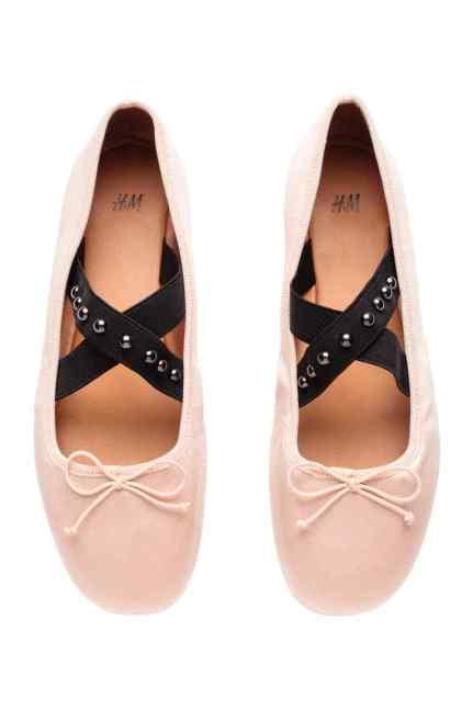 ballerine rosa H&M