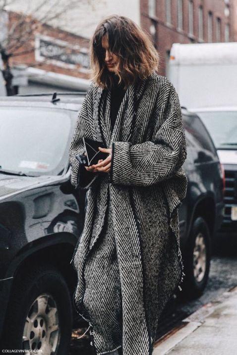 tweed e cappotto maxi