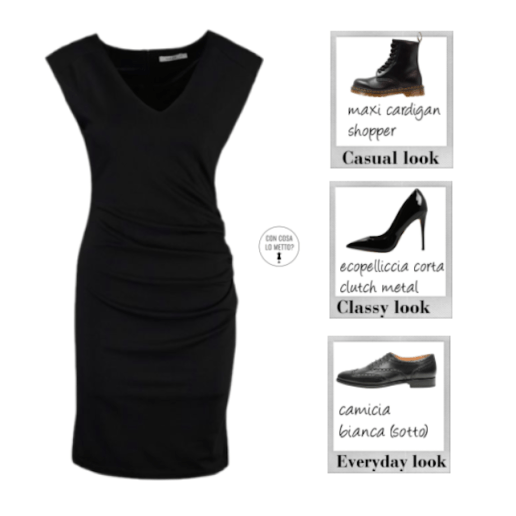 Come abbinare scarpe e vestiti - little black dress