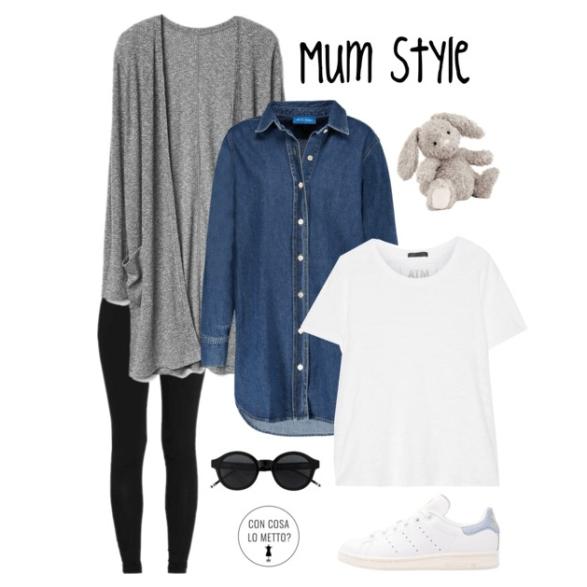 Mamma tuttofare: consigli di stile, leggins e cardigan