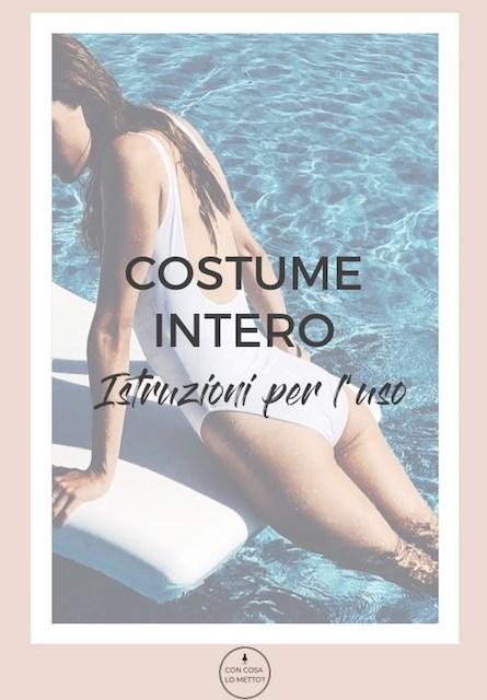 Costume intero: consigli per l'uso