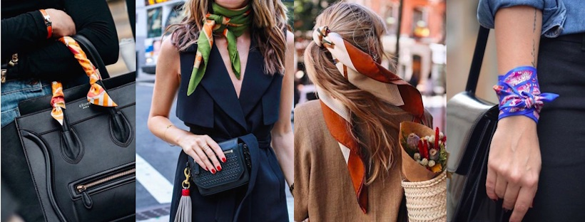 Come indossare il foulard: 5 idee facili e chic