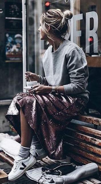 glitter and sweater