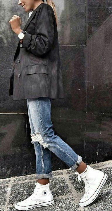 Come indossare il blazer gessato