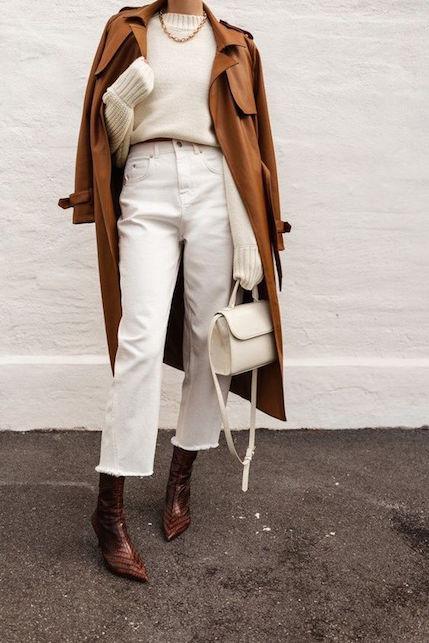 Come indossare i pantaloni bianchi d'inverno