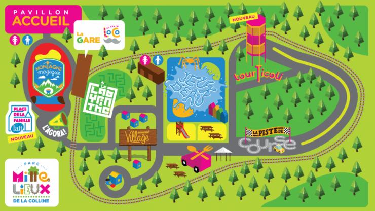 carte Gagner un forfait familial au Parc Mille lieux de la Colline à Saguenay