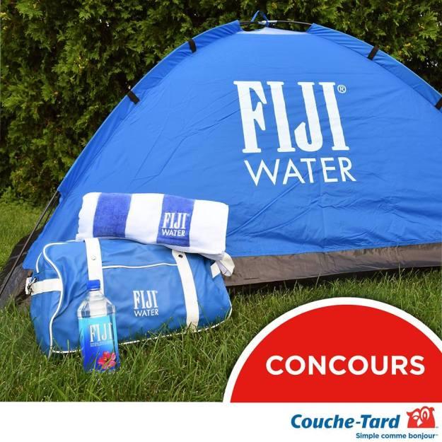Concours – Gagner une tente, un sac de sport et une serviette de plage FIJI Water