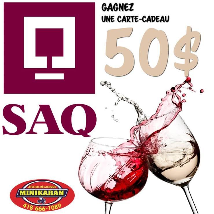 Concours - Gagner 50$ À LA SAQ