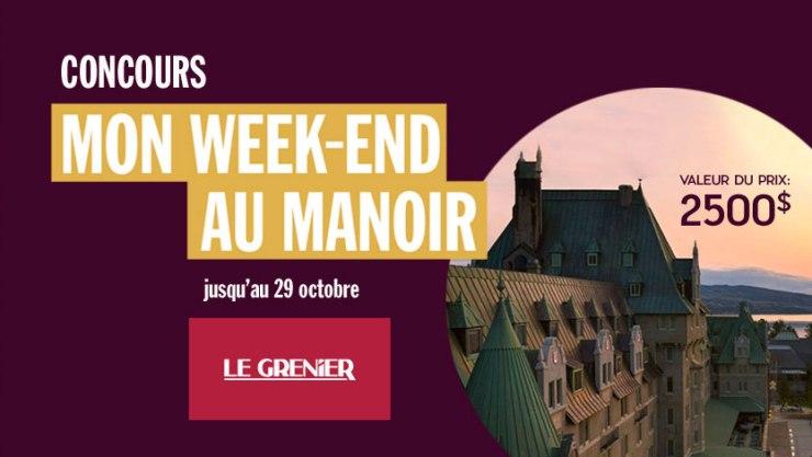 Gagner un fabuleux week-end pour deux au Fairmount Le Manoir Richelieu