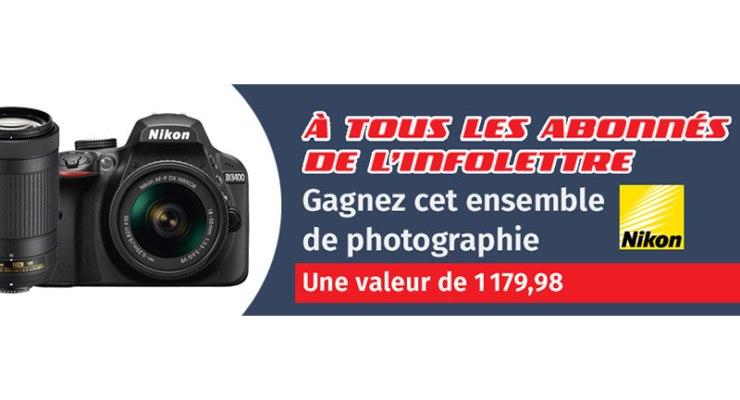 Concours - Gagner un ensemble de photographie d'une valeur de 1179.98