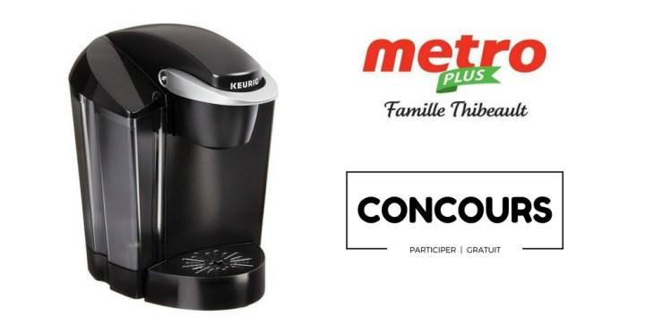 image concours cafetière Keurig offert par Metro Famille Thibeault