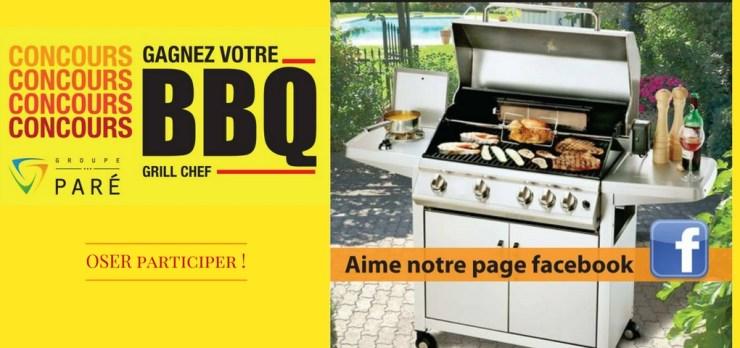 Gagner un BBQ Grill Chef offert par le Groupe Paré