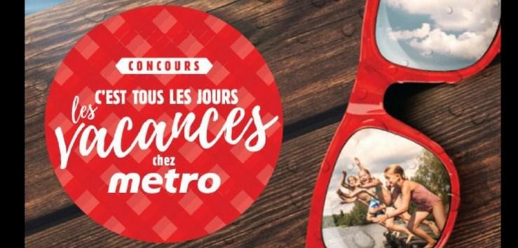 concours chanceux Métro qui offre des voyages en cadeau
