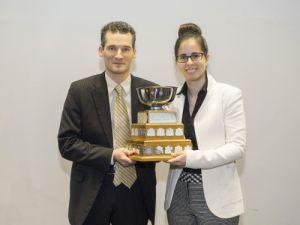 Michèle Giguère (McGill), remis par Pr Patrick Mignault, Co-président du Concours Mignault 2016.
