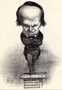 Les représentants représentés, caricature de Victor Hugo par Daumier, 1849, après l'élection de l'écrivain à l'Assemblée constituante - source : Wikipedia