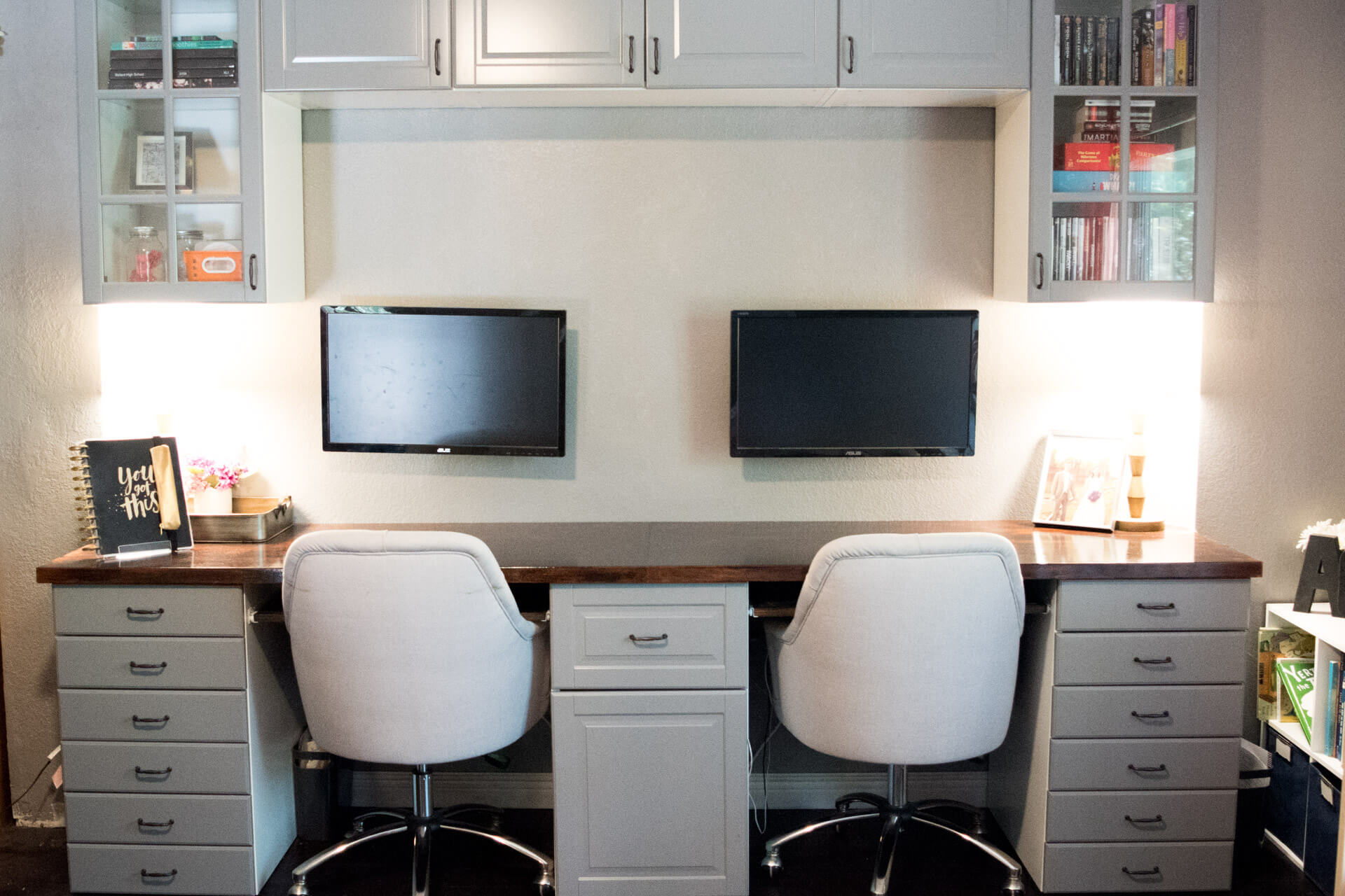upgrading our home office with ikea kitchen cabinets chapter two finishing touches