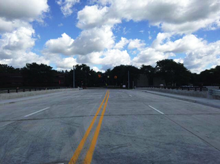 Fig. 2. Completed bridge Deck on the Fix of 96.