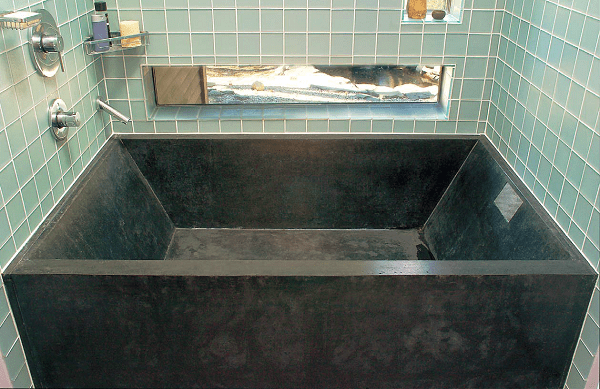 Bathrooms Are Transformed With The Concrete Tub