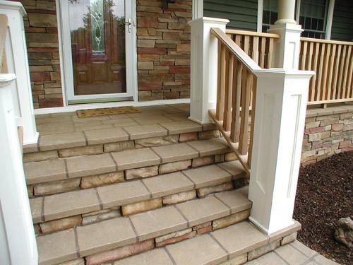 overlay over a wood deck concrete decor