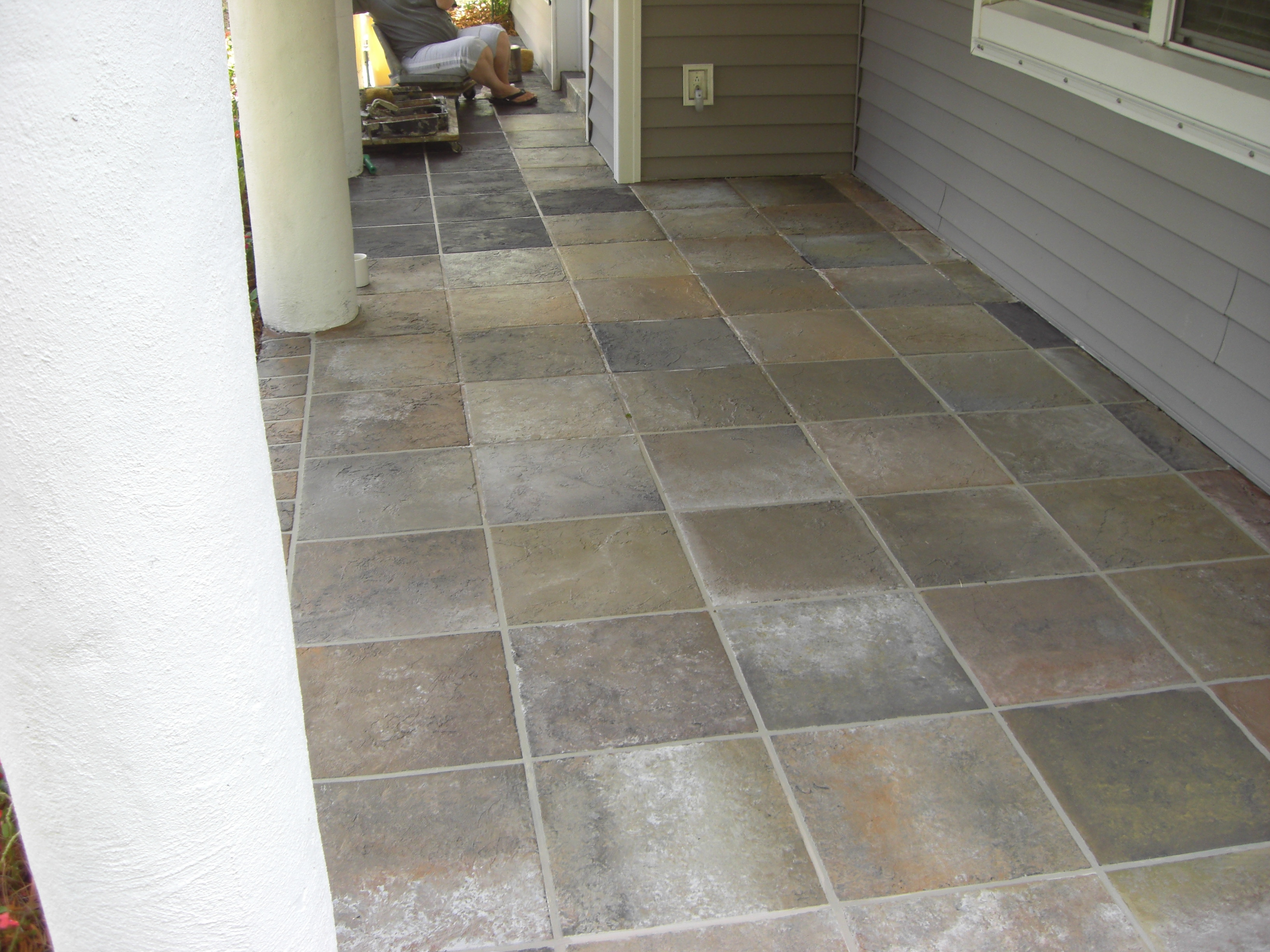 Outdoor Tile Layout : Installing Slate Tile Outdoor Patio Laying On A Solid