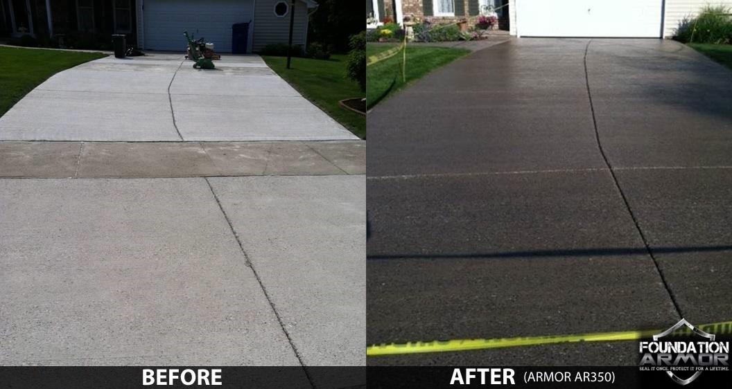 wet look driveway sealer concrete