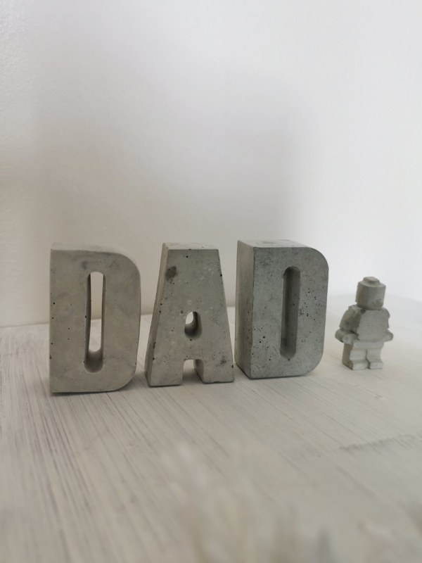 Concrete Dad Letters and Little Man photo 1