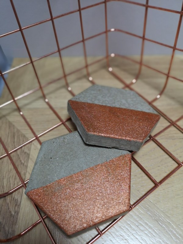 Copper and Grey Coasters photo 2