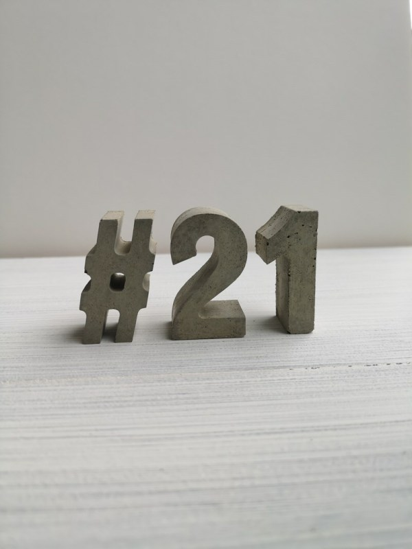 Copper and Grey Rustic Letters photo 2