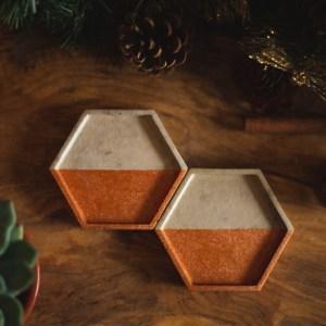 Copper and Grey Trinket Tray main photo