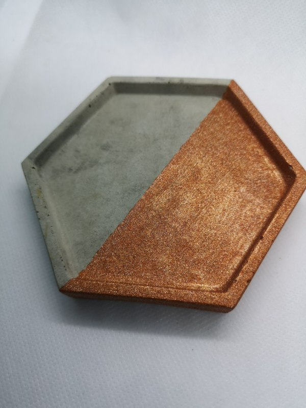 Copper and Grey Trinket Tray photo 1