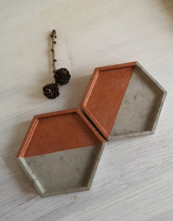 Copper and Grey Trinket Tray photo 3