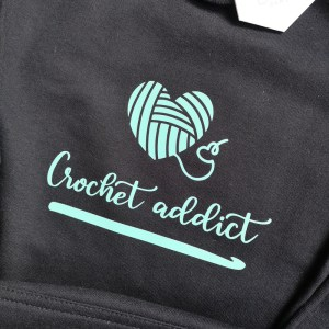 Crochet addict longline hoodie main photo