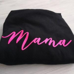 Fluorescent mama tee main photo folded