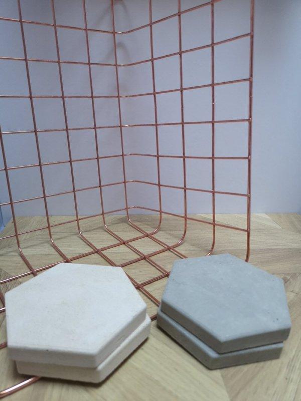 Hexagonal Concrete Coasters photo 2