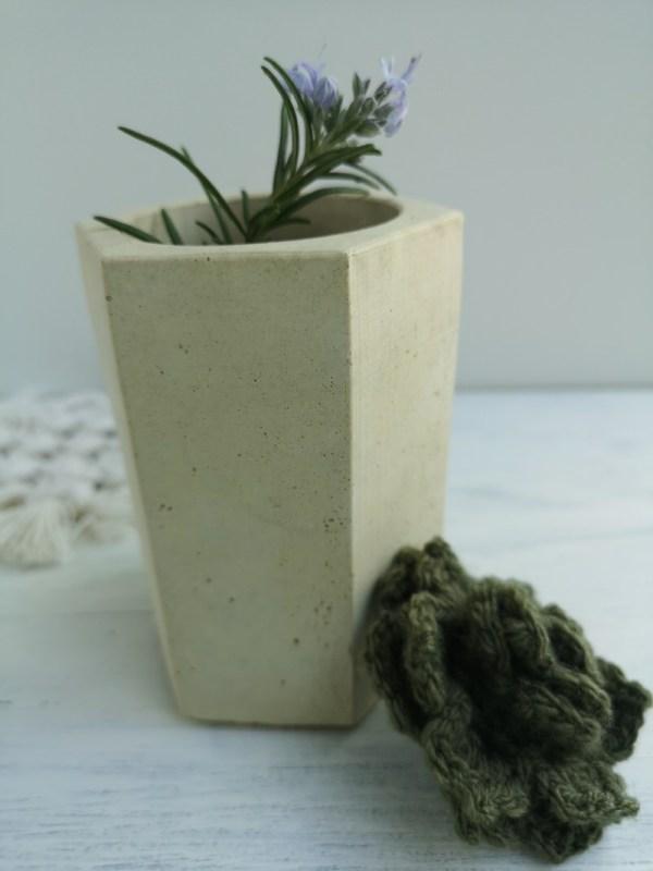 Hexagonal Concrete Vase photo 3