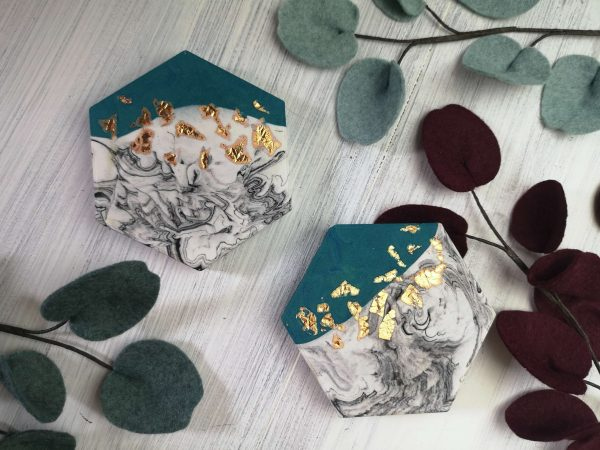 Teal and Copper Coasters main photo